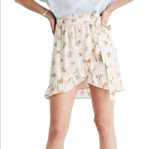 New madewell meadow silk wrap skirt 00